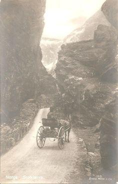 C1910 Norwegian Postcard Norge Stolkjaerre Scene on Road Norway Eneret Mittet   eBay