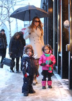 Mariah Carey with her twins, Monroe and Moroccan.