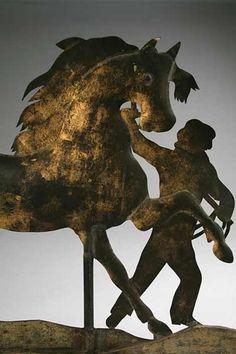 Horse & Groom Antique Weathervane