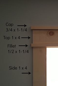 Craftsman-style Window Trim - DIY Home Projects - unique crafts Craftsman Window Trim, Craftsman Style Doors, Craftsman Interior Doors, Craftsman Frames, Craftsman Style Interiors, Craftsman Houses, Interior Window Trim, Window Casing, Door Casing