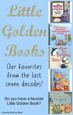 Little Golden Books Through the Decades -- Do you remember reading those books with the gold spines when you were little? Chances are that you did read a Little Golden Book growing up. They have been on book shelves for over 70 years! Children's Books, Books To Read, Book Writer, Little Golden Books, Chapter Books, Kids Corner, Reading Material, Children's Literature, Reading Activities
