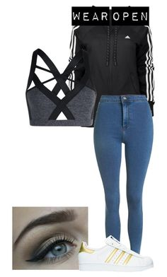 """Random AF"" by skateisbae ❤ liked on Polyvore featuring adidas, Lorna Jane and Topshop"