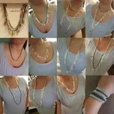 http://www.stelladot.fr/Milany Le collier Freya, le roi de la modularité composé de pierres naturelles il peut être porté d'au moins 12 façons différentes!! De quoi habiller toutes vos tenues...