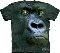 Big Face Animals, Bigger Than Life Realistic Animal Head T-Shirts