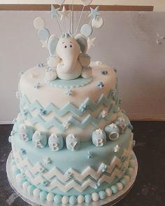 Baby boy baby shower cake.