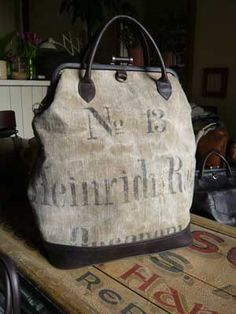 Tamara Fogle German flour sack bag.