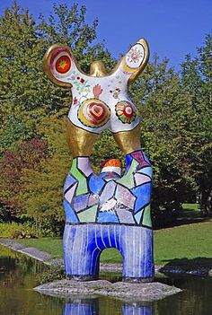 """The Poet and his Muse"" by Niki de Saint Phalle, Ulm, Baden-Wuerttemberg"