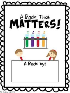 Great way for students to organize ideas and have a chance to illustrate and write thier own examples of the three states of matter.