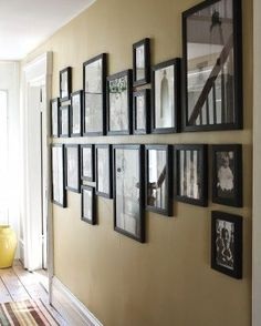 Gallery Wall (and How To Hang Ikea Ribba Frames) | L'amour chez nous 127 13 Lindsay O'Neill My HOUSE Pin it Send Like Learn more at scrapnframes.com scrapnframes.com How to arrange a balanced photo gallery up your staircase (red frames are on the baseline, with the centres of each touching the baseline) 287 20 Sal Carlino House Pin it Send Like Learn more at mamas-spot.com mamas-spot.com How to Create A Gallery Wall for Under $20! A must have for every home! 189 29 Mamas Spot Frugal and…