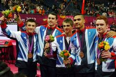 Kristian Thomas, Louis Smith, Max Whitlock, Daniel Purvis and Sam Oldham win bronze for - they won my favourite event this year Kristian Thomas, Max Whitlock, Louis Smith, Male Gymnast, Team Gb, Olympic Games, Gymnastics, Olympics