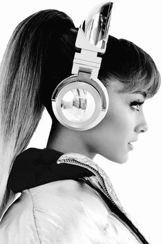 """Ariana Grande's Limited Edition Wireless Cat Eared Headphones available for Preorder now. """
