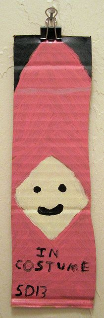 Sonny Ortolano. In Costume, 2013.  House enamel on cardboard.
