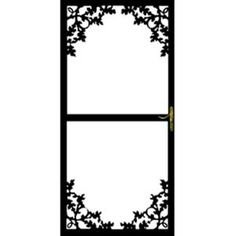 Grisham, 364 Series 36 in. x 80 in. Black Paradise Security Door, 36421 at The Home Depot - Mobile
