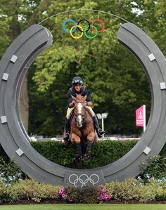 Andrew Nicholson and Nereo at the 2012 London Olympic Games || Photo by Kat Netzler/The Chronicle of the Horse. http://chronofhorse.com/subscribe