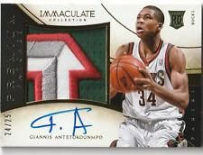 b93af139f 2013-14 Panini National Treasures Giannis Antetokounmpo 4 Clr Patch Auto RC   25 National