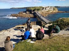 Ocean skill briefings out at Bare Island in Sydney, Australia. This is during their PADI Instructor training with Abyss Scuba Diving. Sydney's only PADI Career Development Centre.