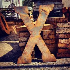 Letter of the day! #x #typography #glyphosaurus #brimfield #metal (Taken with instagram)