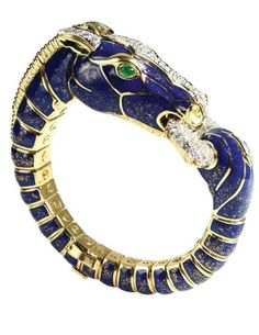 David Webb Dappled Blue Horse Bracelet