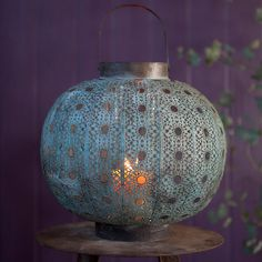 Stow candles inside a large Verdigris Filigree Lantern ($110, originally $148) for a stunning glow.