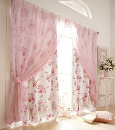 Shabby chic curtains –elegance and romantic atmosphere in the interior