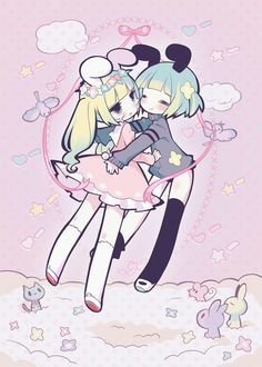 This is probably what my sister and I look like XD
