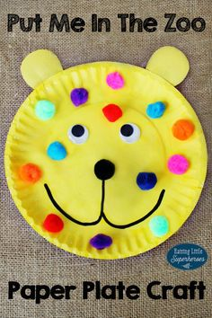 Put Me In The Zoo Paper Plate Craft, Paper Plate Crafts, Crafts for Kids, Put Me In The Zoo, Dr. Seuss