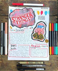 Bullet Journal Notebook, Bullet Journal School, Book Journal, Cute Notes, Pretty Notes, Stranger Things, School Notebooks, Bullet Journal Aesthetic, School Notes