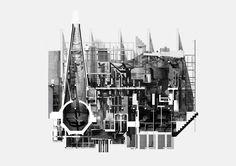Steven Baumann   digital rendering x ink hand-drawn section.