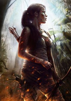 Lara Croft is a fictional character and the main protagonist of the video game series Tomb Raider by Japanese video game publisher Square Enix. Lara is Lara Croft: Tomb Raider, Laura Croft, Rise Of The Tomb, Mileena, Lara Croft Tomb, Luis Royo, Video Game Characters, Cartoon Characters, Fantasy Characters