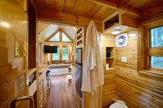 Shocking tiny house on wheels interior design ideas planning with pic for trends and popular Tiny House Bedroom, Tiny House Living, House Rooms, Small Living, Living Rooms, Living Spaces, Tiny House Movement, Tiny House Plans, Tiny House On Wheels