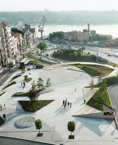 Context and Geometry: Sishane Park is a bold shift regarding the public spaces in the center of Istanbul. Located between the southwestern edge of Beyoglu and Tarlabasi Road, the site used to b...