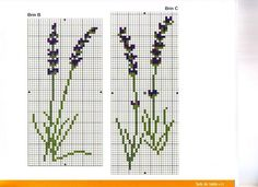 Lavanda by luli Cross Stitching, Cross Stitch Embroidery, Cross Stitch Patterns, Sewing Hacks, Sewing Projects, Lavender Bags, Stitch 2, Needlework, Hair Accessories