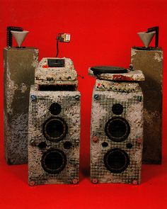 Ron Arad's concrete stereo 1983.