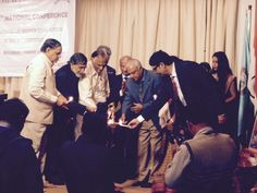 Amroli College Prin.Dr K N CHAVDA  at AICP conference ahmedabad 30/31-01-2015