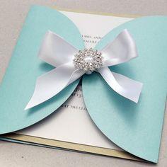 Brooch Wedding invitation   Simply Stunning  