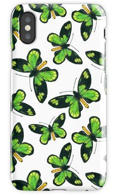 Queen Victoria' s birdwing butterfly pattern iPhone Case #redbubble #butterfly #iPhoneCase #katerinakart