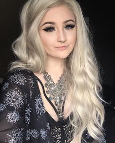 Long Blonde Wavy Synthetic Lace Front Wig - Synthetic Lace Front Wigs - EvaHair