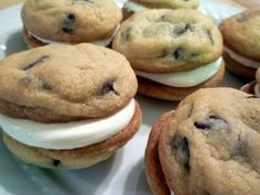 Chocolate Chip Sandwich Cookies with Marshmallow Creme Filling