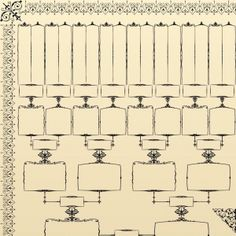 vintage family tree template - Google Search   Save for later ...