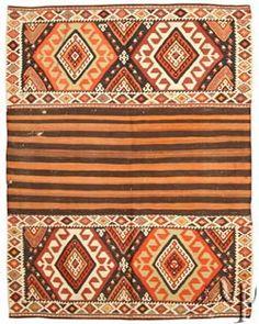 orange kilim rug