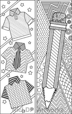 Abstract Pattern Coloring Bookmarks #coloring #pages #abstract #pattern