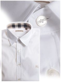 Mens Black Burberry Dress Shirt