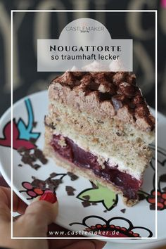 Nuss-Nougat-Torte mit Kirschen Delicious nut and nougat cake with short crust pastry base and nut meringue and a cherry filling. Beef Pies, Mince Pies, Flaky Pastry, Shortcrust Pastry, Baking Recipes, Cookie Recipes, Dessert Recipes, Candy Recipes, Pie Recipes