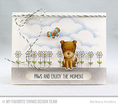 Handmade card from Barbara Anders featuring Four-Legged Friends Stamp set and Die-namics #mftstamps