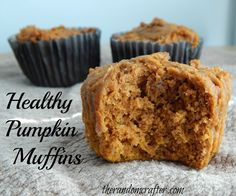 Only 2 ingredients! These healthy pumpkin muffins are so easy and moist! What a great recipe for fall.
