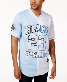 BLACK PYRAMID B /& P BASEBALL RACE JERSEY TEE