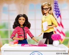 New President And VP Barbies Show Girls Can Run The World, Too - 2016 Barbie® President and Vice President Dolls - (AA African American Red Blue and Blond Yellow Black) New Barbie Dolls, Misty Copeland, You Can Be Anything, African American Dolls, New President, 60th Anniversary, Showgirls, Body Shapes, Types Of Fashion Styles