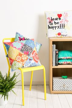 """""""Learn how to be happy"""" with Desigual's Spring collection! Just because it's getting warmer outside, doesnt mean that it shouldn't be cozy inside too!"""