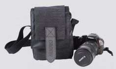 Micro Camera Fashion Shoulder Canvas Waterproof Black Bag Case for DSLR