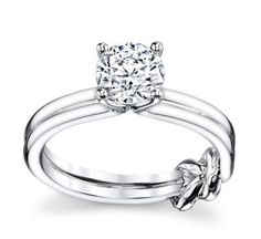 Tie A Little Knot 14K White Gold Engagement Ring Setting